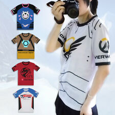 Game Overwatch D.va Mercy Tracer Mccree Short Sleeve Round Collar Casual T-shirt