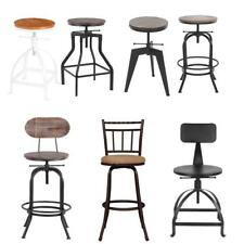 Industrial Metal / Wood Design Vintage Bar Stool Swivel / Height Adjustable I4L8