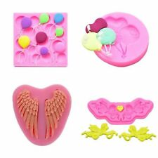 3D Silicone Baking Mold Balloons Angel Candy Chocolate Ice Cake Decorating Tools