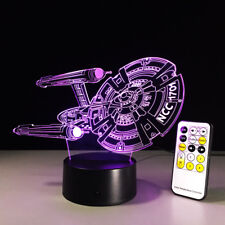 Star Trek 3D Optical Night Light 7 Color Change Table Desk Decor Sleeping Lamp