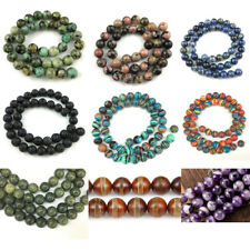 8mm Natural Gemstone Beads Round Loose Stone Beads For Jewelry Making 15''