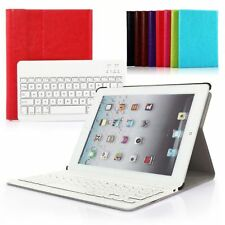 For iPad Mini 1/2/3 PU Leather Cover Case Removable Wireless Bluetooth Keyboard