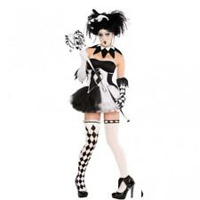 Ladies Harlequin Tricksterina  Halloween Fancy Dress Costume with accessories
