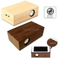 Portable Wireless Wooden Speaker Amplifier Stereo Bass Induction Sound Box N7Z8