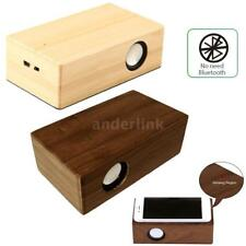 Wireless Induction Speaker Amplifies USB Rechargeable Wooden HiFi Music Box D7M2