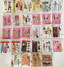McCall's Sewing Patterns Kid's Girls Boys VTG1969 to 2012