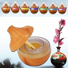 Wooden Air Humidifier Ultra Quiet Cool Mist 300ml Essential Oil Diffuser LS