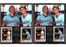 Robin Yount & Paul Molitor Milwaukee Brewers Legends Photo Card Plaque