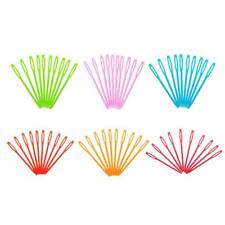 1000pcs 7cm Colorful Plastic Lacing Needles for DIY Kids Sewing Weaving Crafts