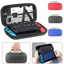 For Nintendo Switch Smooth Carbon Fiber Carrying Case Hard Shell Travel Bag Gift