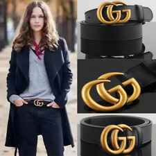 Women's Genuine Leather Belts Jeans gold Buckle black Belts 110cm Designer GG