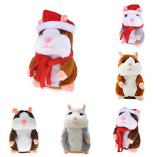 Cute Electric Pet Talk Hamster Repeats 'What You Say' Plush Animal Toy Nice Gift