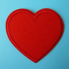 Red Heart Love Iron on Sew Patch Cute Applique Badge Embroidered Motif Wedding