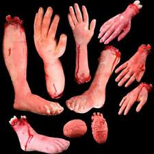 Bloody Realistic Hand Foot Brain Prop Creepy Severed Prosthetic Fake Human Body