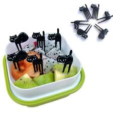 Toothpick Cat Fruit Fork Dessert Fork Gadgets Baby Fork Cute Cartoon 6 Pcs