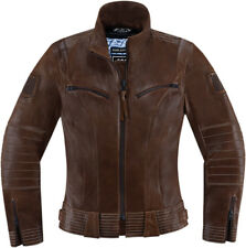 Icon 1000 Womens Brown Leather Fairlady Motorcycle Jacket