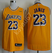 NEW Los Angeles Lakers#23 LeBron James Basketball Jersey Yellow Size:S--XXL