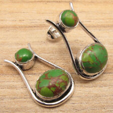 925 Silver Plated GREEN COPPER TURQUOISE Earrings Packs 10 50 100 ! Jewelry LOT