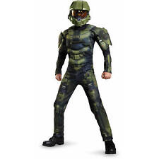 Halo Master Chief Classic Muscle Child Dress Up Fancy Outfit Halloween Costume
