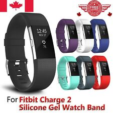Replacement Silicone Watch Wrist Sports Band Strap For Fitbit Charge 2 Wristband