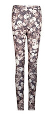 Leggings brown old fashioned skull trunk the eye punk rave punk rave
