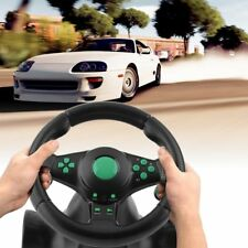 USB Wired Vibration Motor Racing Games Steering Wheel For PS2 /3 Xbox 360 LOT WX
