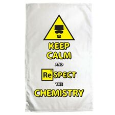 Tea Towel Keep Calm and Respect The Chemistry White 70 x 50cm