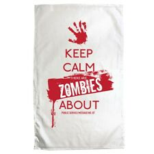 Tea Towel Keep Calm There's Zombies About White 70 x 50cm