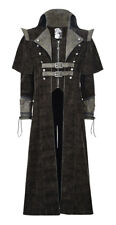 Long coat brown man medieval steampunk Punk rave Punk rave