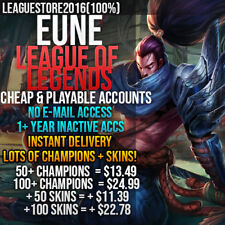 League of Legends Account LoL EUNE Unranked Smurf Lvl 30 All Champs Skins