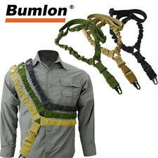 Tactical One Single Point Sling Bungee Rifle Sling Strap Adjustable w/ QD Buckle