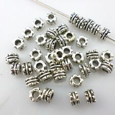 80/160pcs Tibetan Silver Tube Charm Loose Spacer Beads 3x5mm Jewelry Findings