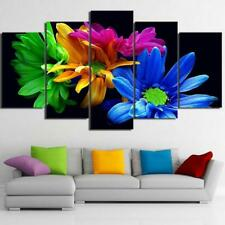 Colorful Daisies Canvas Art Print for Wall Decor and Painting. Flower Canvas Art