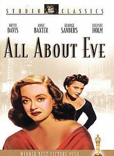 All About Eve (DVD, 2002, Studio Classics) Factory Sealed