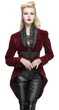 Jacket velvet red, clip embroidered and col. decorated, aris Devil Fashio