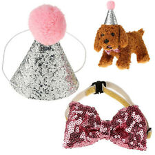 Warm Caps Hat Birthday Party Costume Dog Pet Cat Dog Bowknot Costume Headwear FA