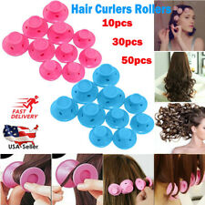 50x Magic Silicone Hair Curlers Rollers No Clip Formers Styling Curling DIY Tool