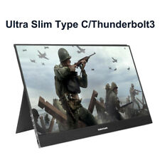 """15.6"""" IPS 1080P HDR HDMI Type-C/Thunderbolt3 Portable Monitor For PS4 Laptop PC"""
