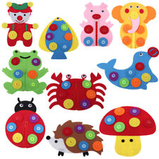 1x Learn to Dress Animal Design Toy Early Learning Basic Life Skills Toys