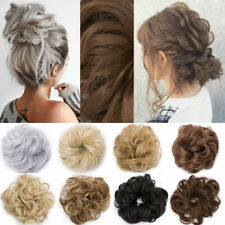Curly Messy Bun Hair Piece Scrunchie Chignon Hair Extensions Real as human