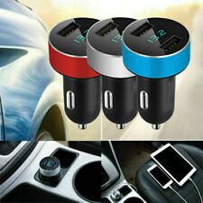 3.1A Dual USB Ports Car Charger LED Display 12-24V Voltmeter Cigarette Lighter