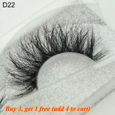 SKONHED 3D Mink Hair False Eyelashes Wispy Cross Lashes Fluffy Lashes-Extension`