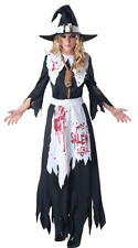 Womens Bloodstained Salem Witch Costume, Bloodstained Witch Costume