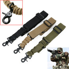 Adjustable Tactical Single One Point Dual Bungee Rifle Gun Sling system Strap