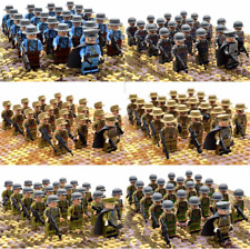 21pcs WW2 Military Soldiers France US Britain Army + Weapon for Minifigures