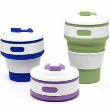Folding Silicone Cup Portable Silicone Telescopic Collapsible Coffee Cup New