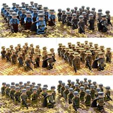 21pcs Set Military Us Army Ww2 Soldiers Japan German Britain Italy Bricks Weapon