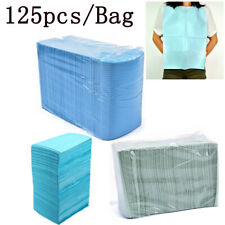 125Pcs/Bag Disposable Dental Bibs Medical Tattoo Cordless Towel Bibs 33X46CM