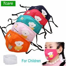 Face Mouth Mask Reusable Breathable Cotton Protective Children