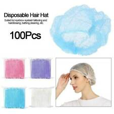 100PC Disposable Hair Head Covers Net Bouffant Cap Kitchen Medical Non Woven Hat